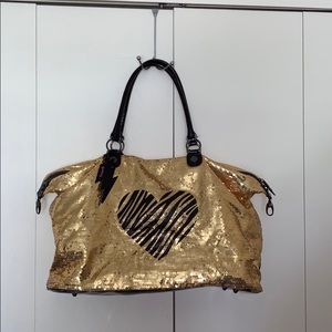 ⚠️Handles Damaged Betseyville Sequin Overnight Bag